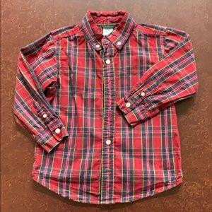 Gymboree XS (3-4) Boys Button Down Plaid Shirt
